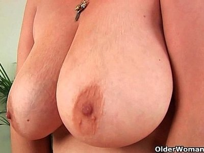 big tits   dildo   grandma   hairy   older   solo