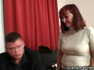 big cock  granny  old and young  swallow