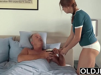 cum  daddy  fingering  fuck  old and young  old man