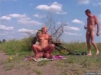 anal  granny  older woman  outdoor